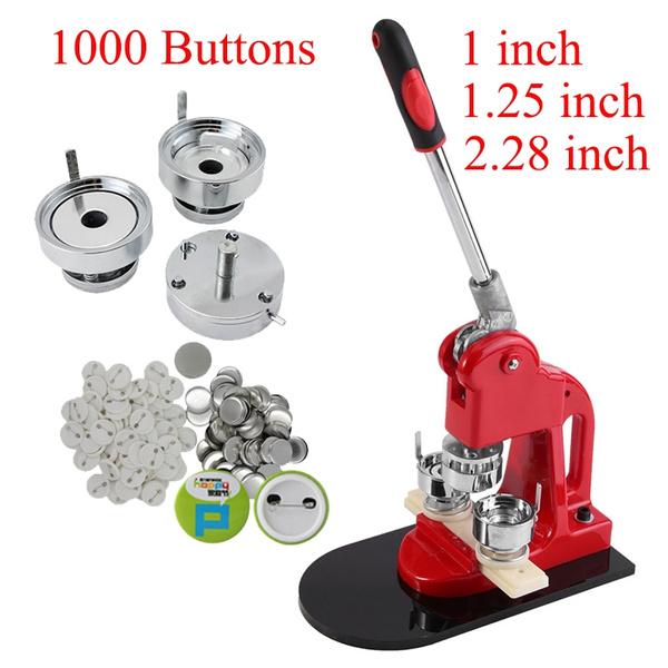 1000 Buttons Circle Badge Punch Press Pin 1