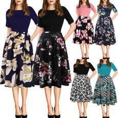Swing dress, Midi Dresses, Vintage Dresses, Sleeve