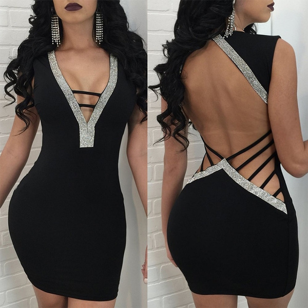 Mini, hollowoutdres, short dress, backless dress