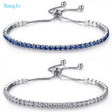 Sterling, Crystal Bracelet, DIAMOND, Chain
