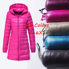 slim long, Jacket, hooded, Winter