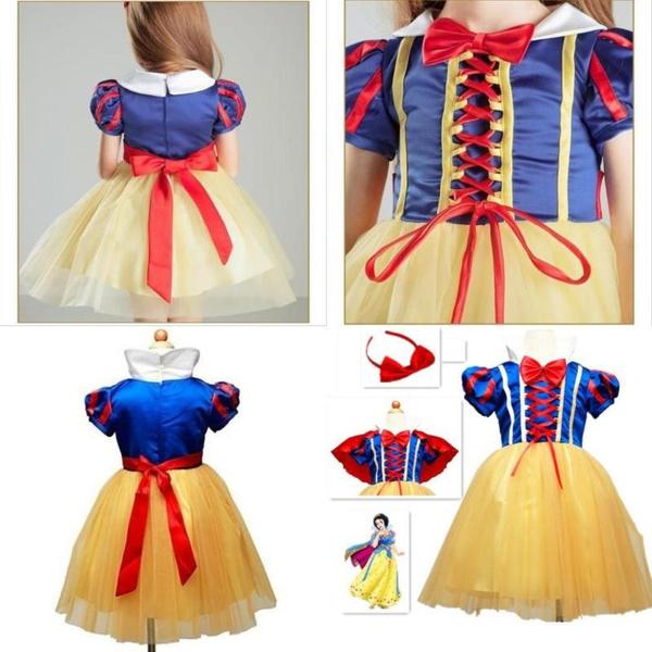 Children Girls Dress Snowwhite Princess Dresses Costume Clothes