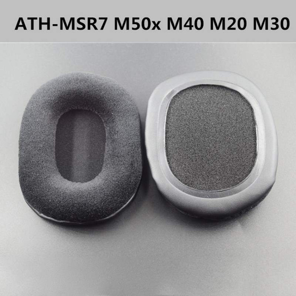 New Quality 2pcs Velour Ear Pads Cushions For Audio-Technica ATH-M50 M50S  M50X M40 M40S M40X