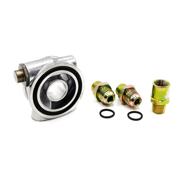 3//4-16 UNF Oil Filter Sandwich Plate Thermostat Adapter AN10 Fitting Oil Cooler