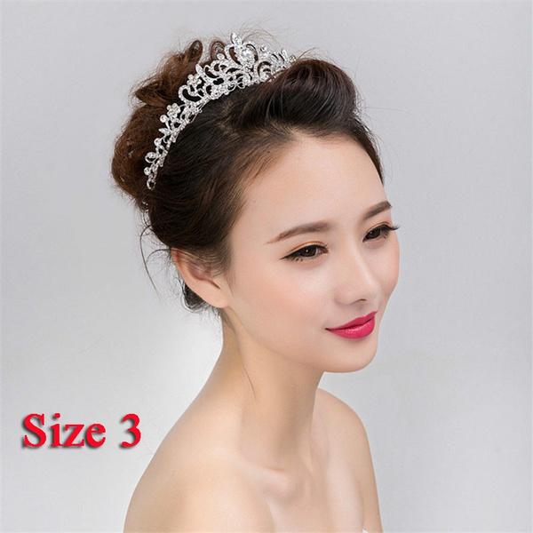 Geek Bridal Crystal Tiara Crowns Princess Queen Diadem Pageant