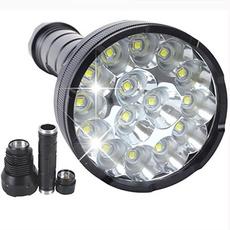 38000 Lumens 15x XM-L T6 LED Flashlight Torch 4x 18650 Hunting Light Lamp