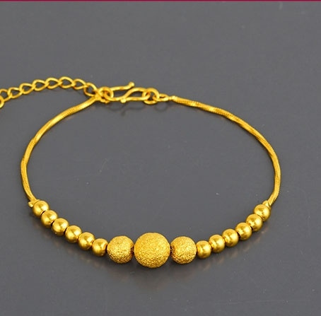 24k Gold Plated Luxury Beads Bracelet