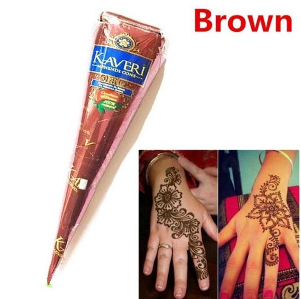 Wish Zanx 1pcs Black Golecha Henna Tattoo Paste Cones Indian