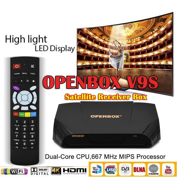 Genuine Openbox V9S HD Satellite Receiver Built-in WiFi Latest Software  Update IPTV