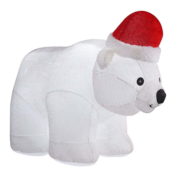 wish 65ft large airblown inflatable polar bear dcor christmas inflatables outdoor holiday decorations blow up led lighted christmas yard dcor - Polar Bear Inflatable Christmas Decorations
