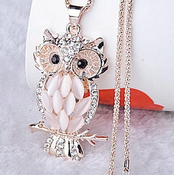 goldplated, Owl, Fashion, Jewelry