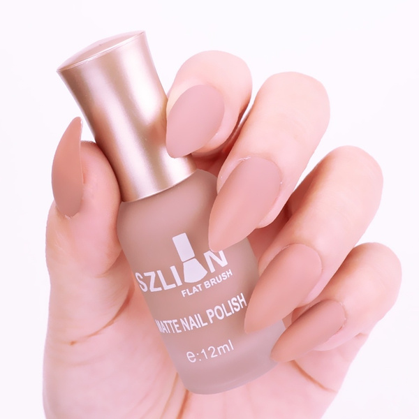 12ml Nude Color Matte Nail Polish Dull Polish Fast-dry Long-lasting ...