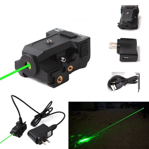 New Micro Green Dot Laser Sight Rechargeable Subcompact Pistol Green Laser Scope