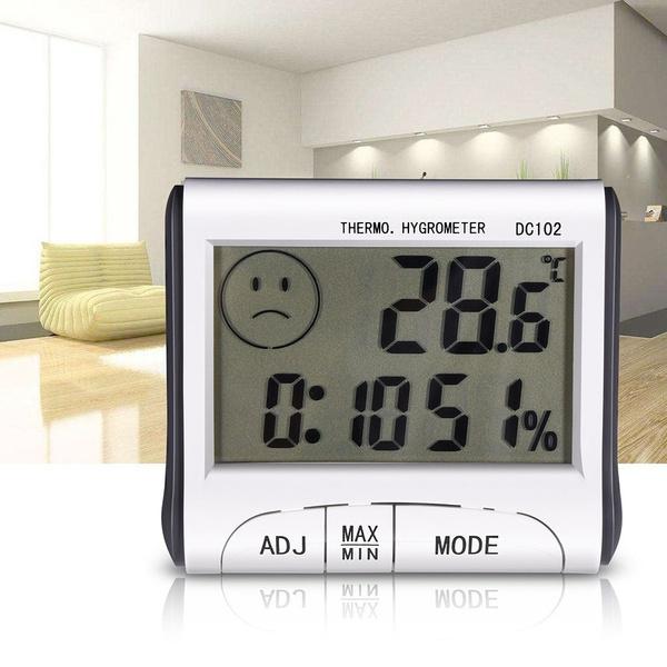 Digital LCD Temperatur Hygrometer Thermometer Luftfeuchtigkeit Meter Uhr PRO