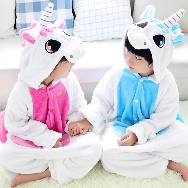 b3323d9038892 Enfants Pyjama fille garçon licorne animaux Cosplay costume flanelle   Wish