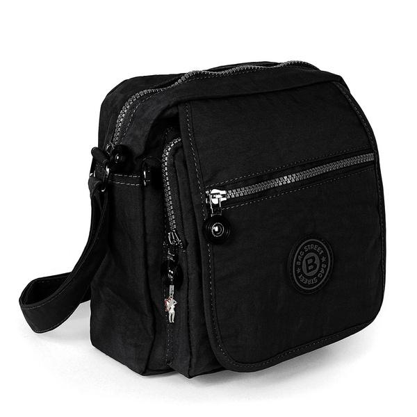 Street Tasche Damenhandtasche Nylon Otj218s Umhängetasche 20x22x10 Bag Schwarz sQhdxrCt