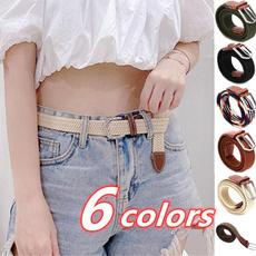 Leather belt, Golf, elastic belt, Elastic
