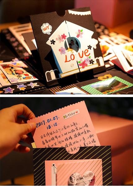 Wish Valentines Day Surprise Gift Explosion Box Diy Manual Album