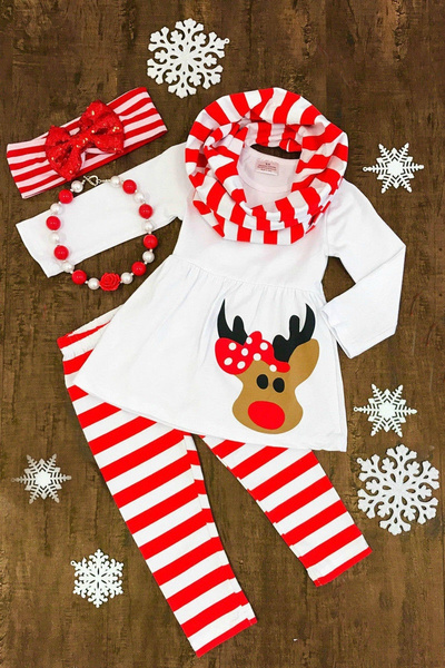 Toddler, Christmas, girlsoutfit, Long Sleeve