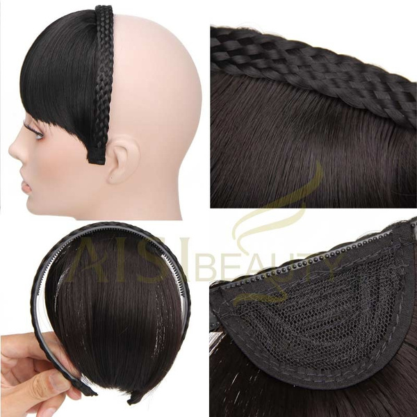 Geek Apply Hair Braid Band Neat Bangs Fake Hair Extension