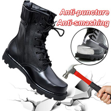 safetyshoe, midcalfboot, Leather Boots, Lace