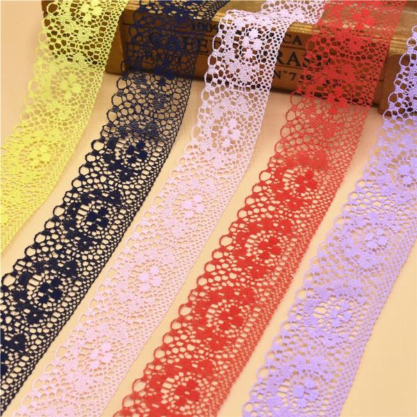 Handicrafts Embroidered Net Lace Trim Ribbon DIY Wedding//Birthday//Christmas Decorations Black 10 Yards//Lot 3//4 Inch 20 Mm Wide