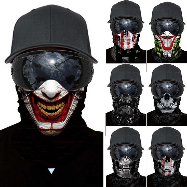 Magic Harley Joker Skull Face Shields Ski Paintball Cycle Face Mask Wish