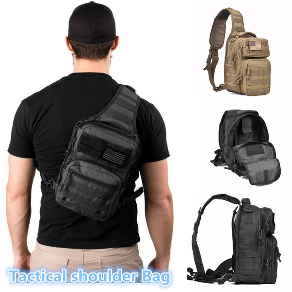 New Tactical Sling Bag Pack Military Rover Shoulder Backpack Molle Assault Range Everyday Carry