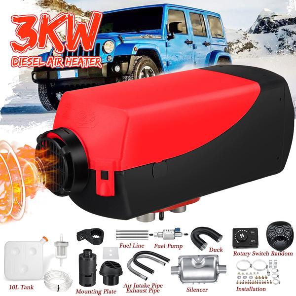 Diesel Air Fuel Heater 12V DT5000 3KW/3000W For Car Truck Bus Van Parking  Black/Black+Red(Color random distribution)