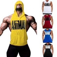 hooded, Tank, Shirt, Gym