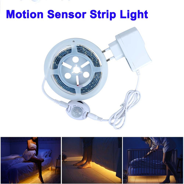 Led Bedroom Pir Motion Sensor Led Strip Light Led Night Light Strip Smart Turn On Off Led Strip Waterproof Smd2835 Warm White Led Bedroom Pir Motion