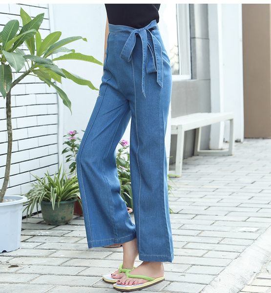 a9a16f359d3 Autumn High Waist Flare Jeans Pants Plus Size Stretch Skinny Jeans ...