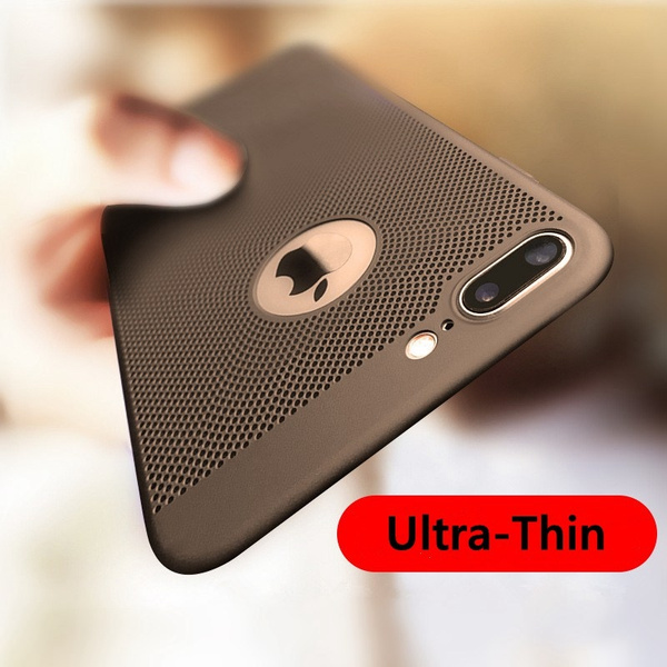 competitive price c2d53 5d960 Trendy Ultra-Thin Breathing Phone Case Shockproof PC Back Covers Cellphone  Accessories for IPhone 5 5s SE 6 6s 7/7 Plus 8/8 Plus