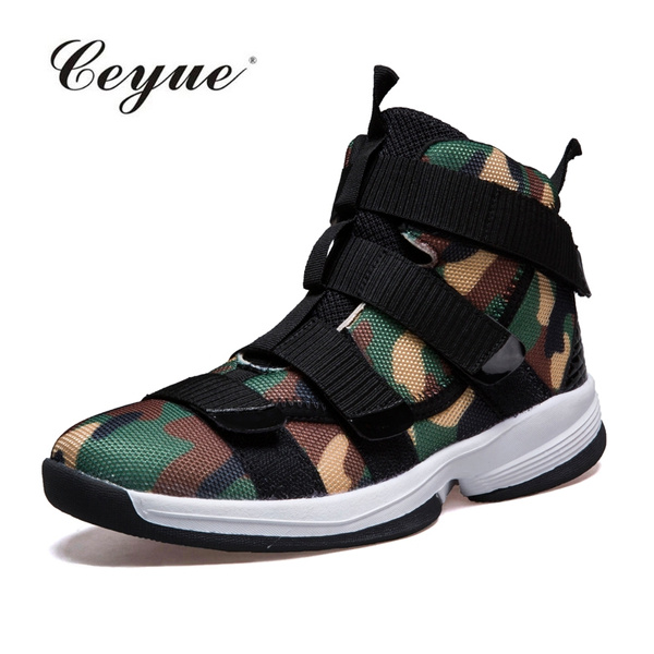 2017 Men Basketball Shoes Lebron James Shoes High Top Lace Up Ankle