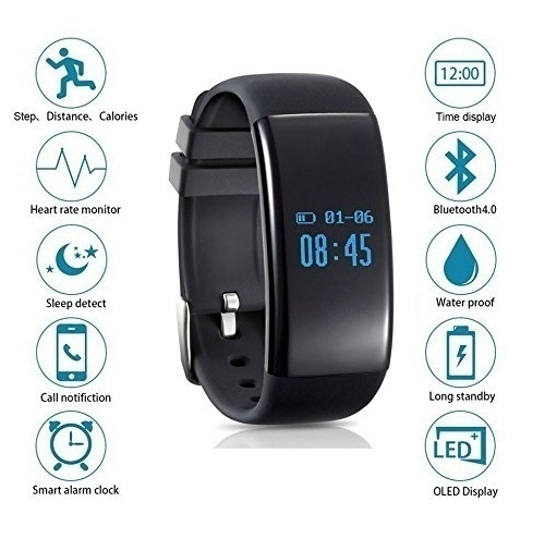 reputable site ffea8 cc124 NEW Smart Watch iphone 8 Docooler D21 Smart Watch Heartrate Wristband  Bracelet 0.66 OLED Touch Screen Text Incoming Call Notification Pedometer  ...