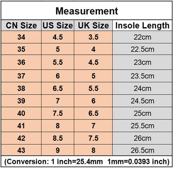 European Size  Shoe Aus