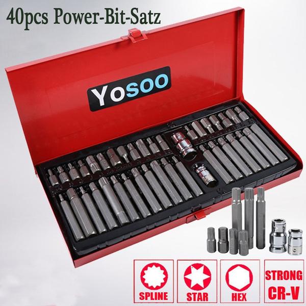 BITSET 100-tlg Bitsatz Chrom-Vanadium-Stahl BIT-BOX