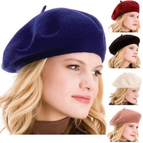 Beanie, Wool, women hats, Women Beret