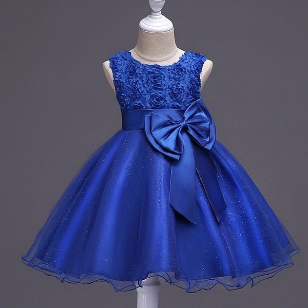 Baby Girl Pretty Dress Kids Girl Sleeveless Princess Dress Flower Girl  Children Wedding Dress Birthday Party Dress for Age 1,11 Years