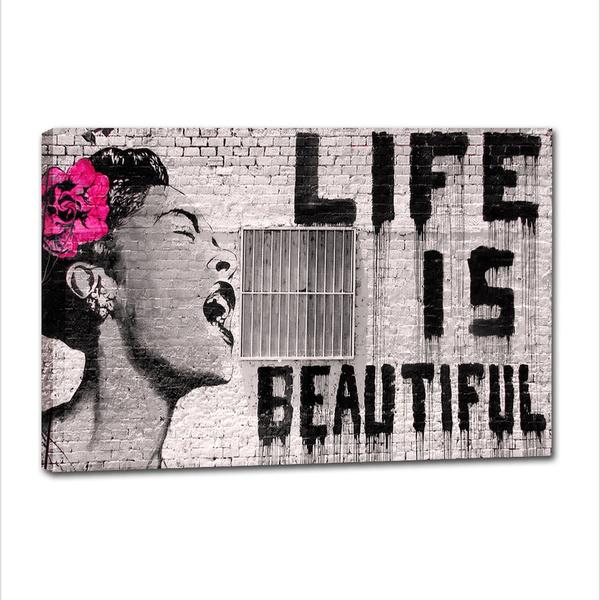 Canvas Wall Art Graffiti Life Is