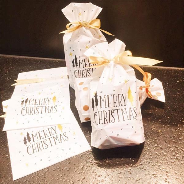 Christmas, Gifts, Bags, Food