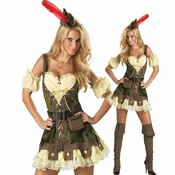 Robin Hood Costume Adult Female Halloween Fancy Dress