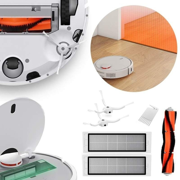 New Xiaomi Mi Robot Vacuum Cleaner Set ( Main Brush + 2 Side Brushes + 2  Filters )