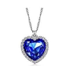 Blues, Heart, Jewelry, bluenecklace