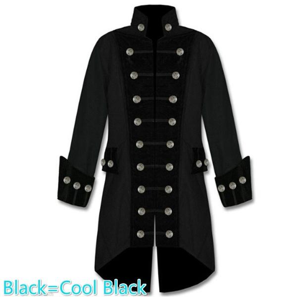 Wish Plus Size Fashion Men S Velvet Trim Steampunk Vampire Goth
