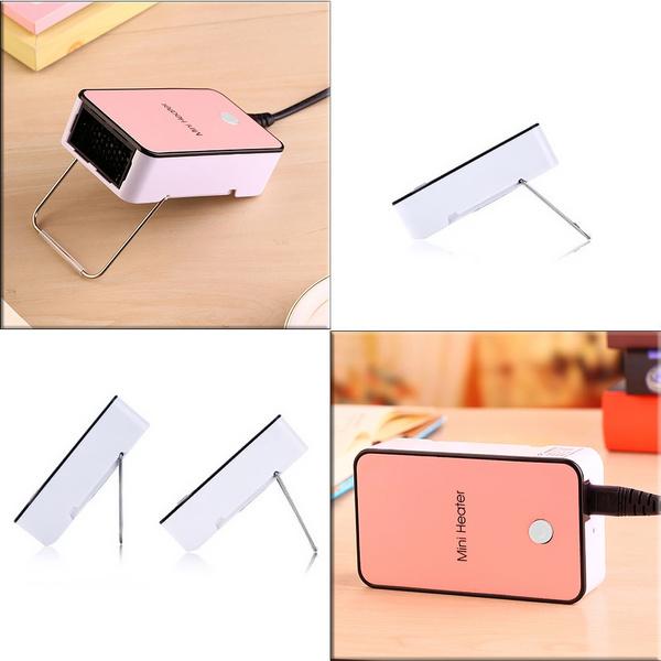Mini Desk Fan Portable Office Home Desktop Winter Warm Space Electric Heater