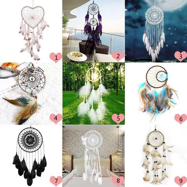 gardenwindchime, featherswallsticker, Dreamcatcher, Home & Living