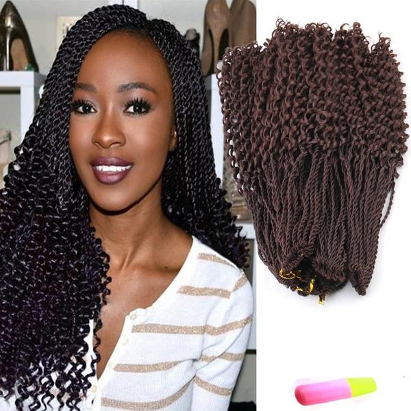 5pcs Curly Senegalese Twist Hair Crochet Braids Crochet Hair Extension High Temperature Curly Senegalese Twist Braid Synthetic Braiding Hair 425g