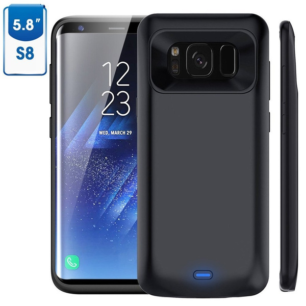 low priced 0d662 3fefc Galaxy S8/S8 Plus Battery Case, 5000mAh/5500mah Rechargeable External  Battery Portable Charger Protective Charging Case Juice Pack Power Bank  Cover ...