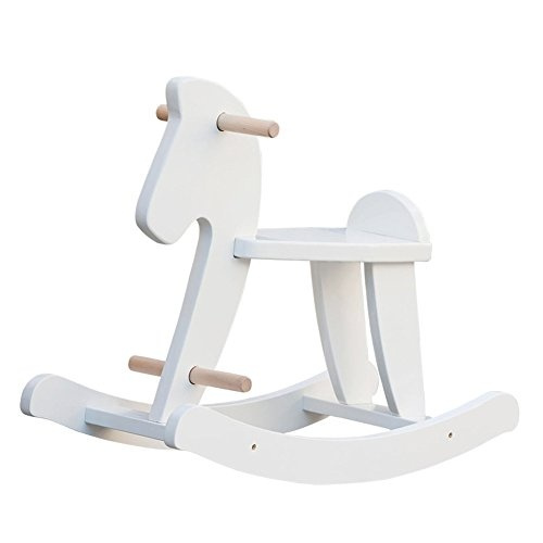 Fabulous Labebe Child Rocking Horse Wooden Rocking Horse Toy White Rocking Horse For Kid 1 To 3 Years Vintage Rocking Horse Set Kid Rocking Horse Machost Co Dining Chair Design Ideas Machostcouk